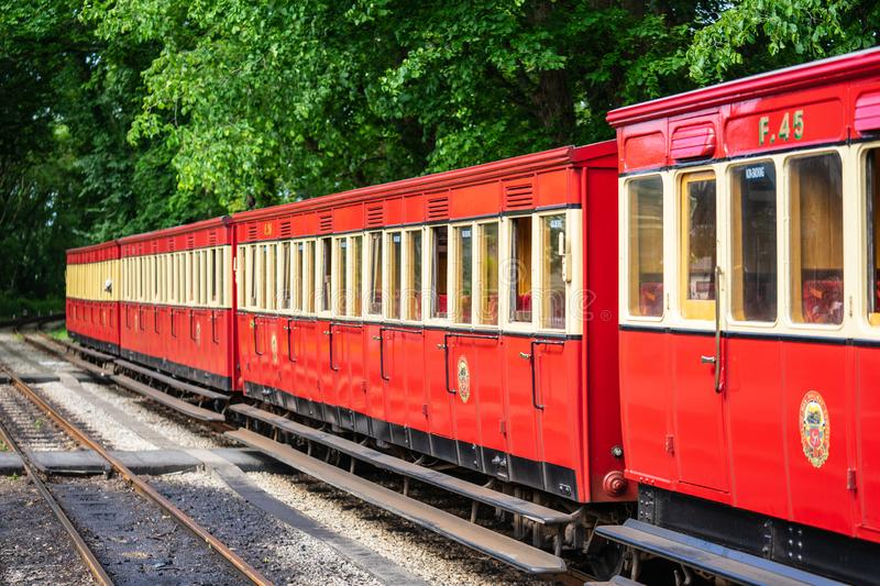 Castletown,Isle of Man, June 16, 2019. The Isle of Man Railway is a narrow gauge steam-operated railway connecting Douglas with. Castletown and Port Erin royalty free stock photos