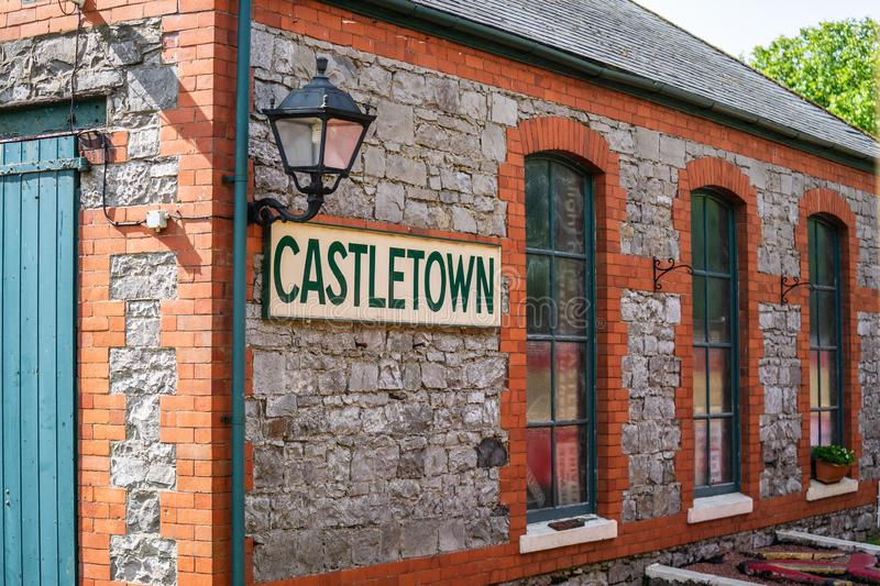 Castletown,Isle of Man, June 16, 2019. The Isle of Man Railway is a narrow gauge steam-operated railway connecting Douglas with. Castletown and Port Erin royalty free stock images