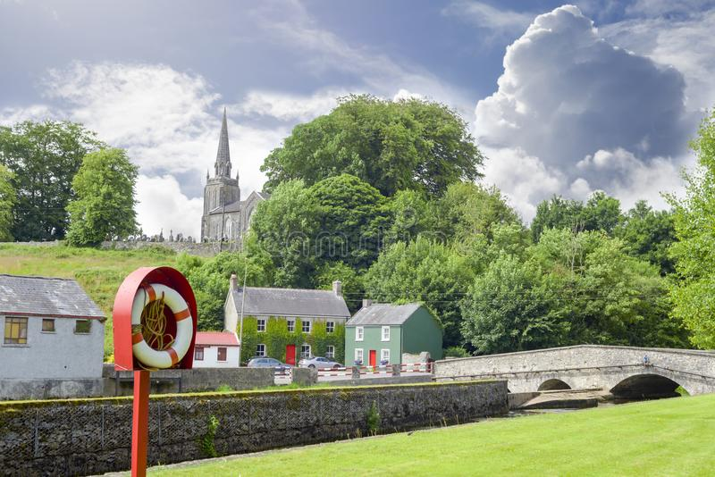Castletownroche park and church. Scenic view of castletownroche park and church in county cork ireland royalty free stock photo