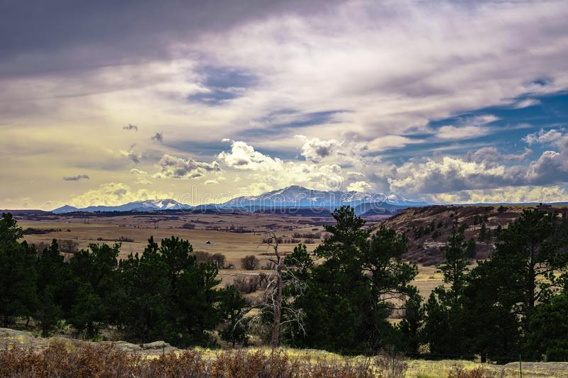 Castlewood Canyon in Colorado stock photography