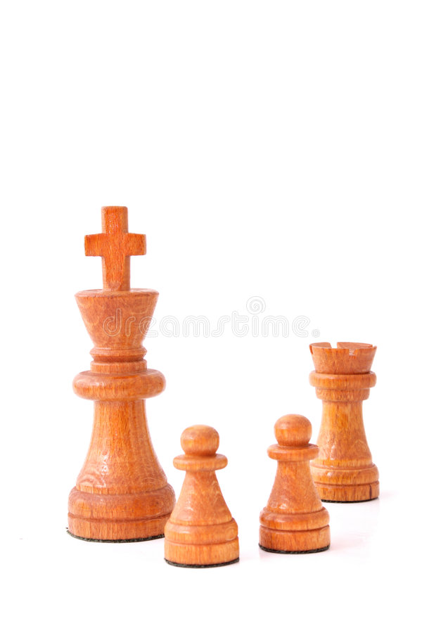 Castling. A typical chess move. All isolated on white background royalty free stock images