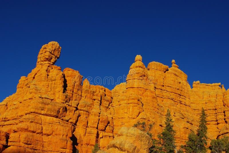 Casto峡谷,犹他 库存图片