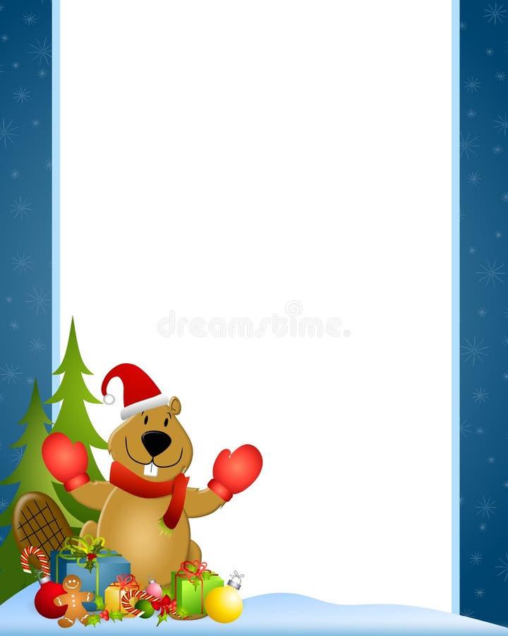 Castor 2 de Canadá do Natal ilustração royalty free