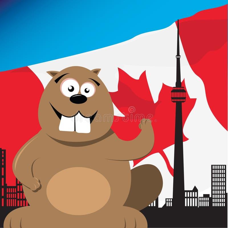 Castor canadien illustration stock