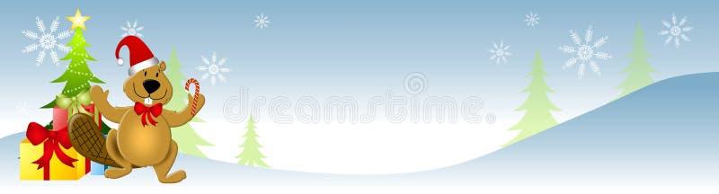 Castor canadiense de Navidad ilustración del vector