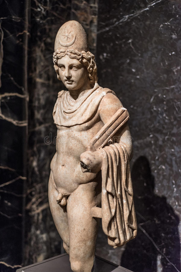 Castor or Pollux marble Statue from Italy royalty free stock images