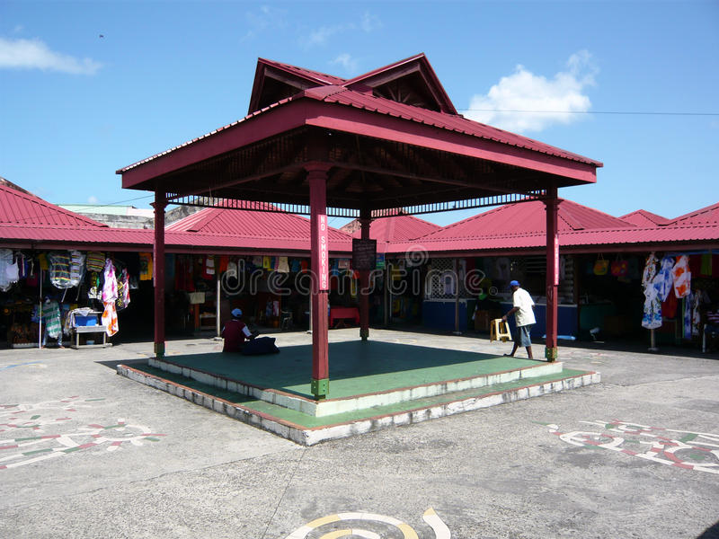 Castries-Markt, St Lucia lizenzfreie stockfotografie
