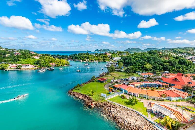 Castries, St Lucia, karibisch stockbild