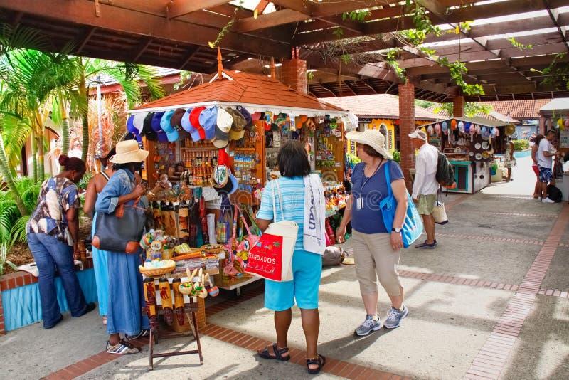 Castries St Lucia - zollfreies Einkaufen! stockfotos