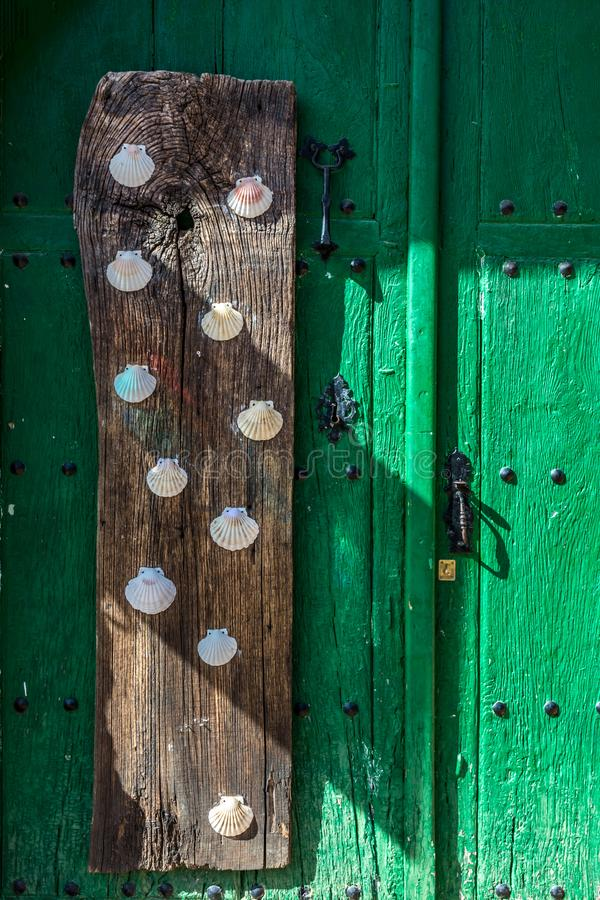 Castrillo de los Polvazares ? un villaggio situato a Leon, nel nord-ovest della Spagna ? uno dei pochi posti di Maragateria immagini stock