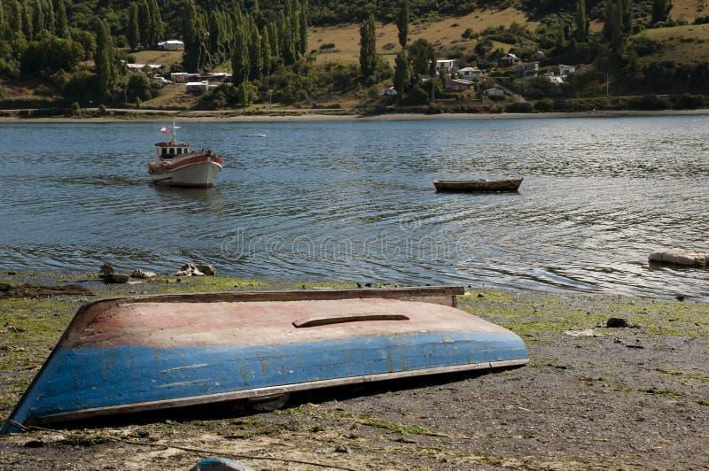 Castro Bay - isola di Chiloe - il Cile fotografie stock