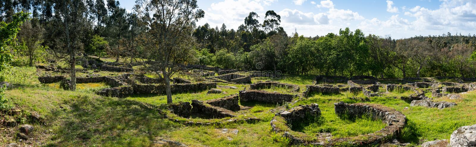 Castro de Romariz. The Castro de Romariz is a fortified settlement dating from the 5th century BC, with occupancy levels up to the first century AD. Romariz stock photos