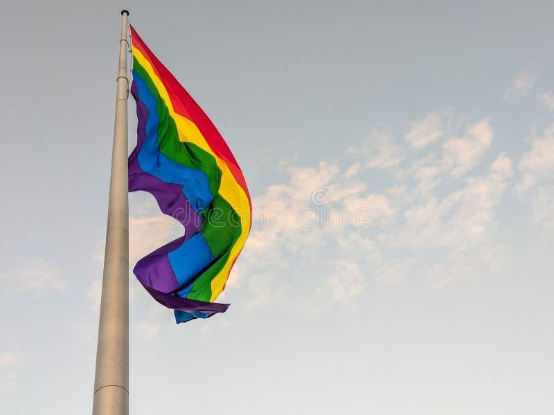 Castro District Rainbow Colored Flag, San Francisco, la Californie images libres de droits