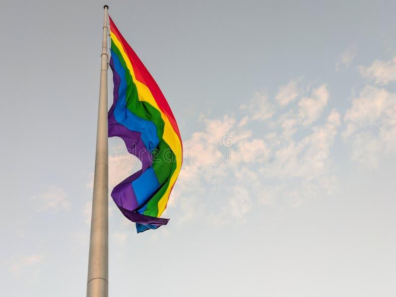 Castro District Rainbow Colored Flag, San Francisco, la Californie photos stock
