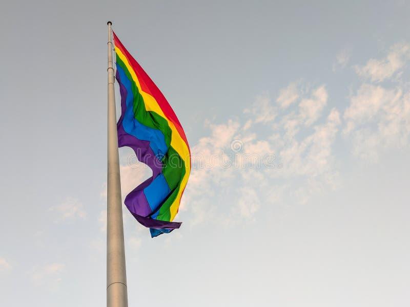 Castro District Rainbow Colored Flag, San Francisco, la Californie photo libre de droits