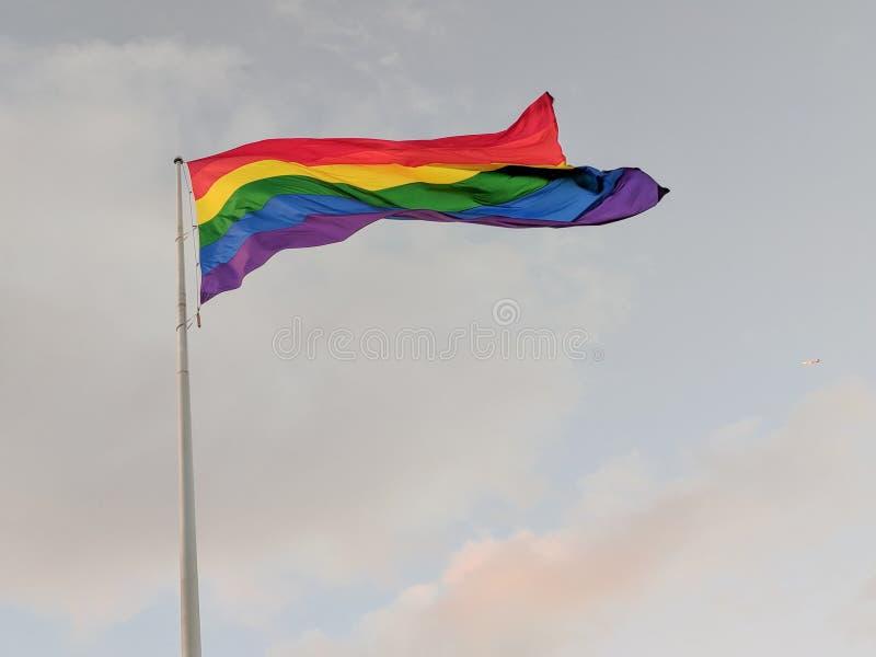 Castro District Rainbow Colored Flag, San Francisco, la Californie image libre de droits