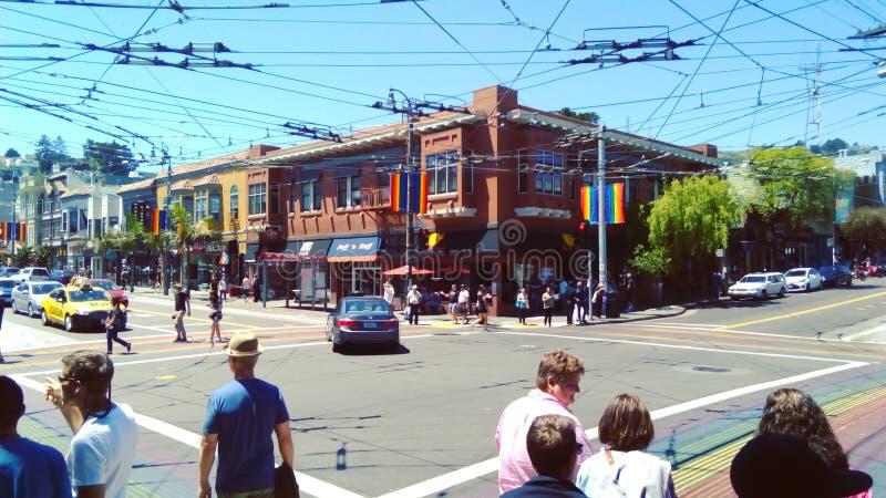 Castro Street fotografering för bildbyråer