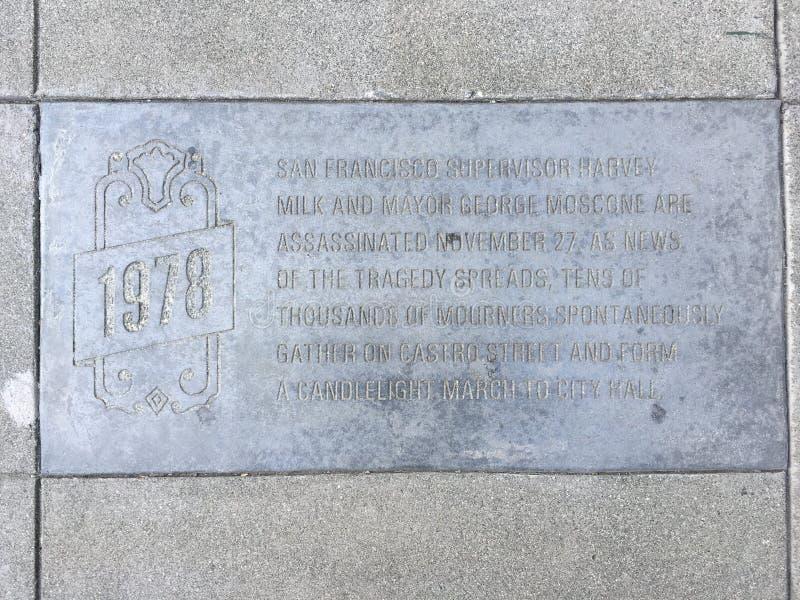 Castro Street Timeline Marker, 1979 imágenes de archivo libres de regalías