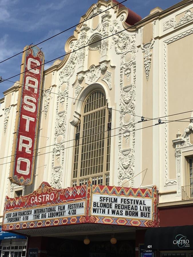 Castro Theater, ` s de San Francisco la mayoría de la casa de película famosa, 1 fotografía de archivo libre de regalías
