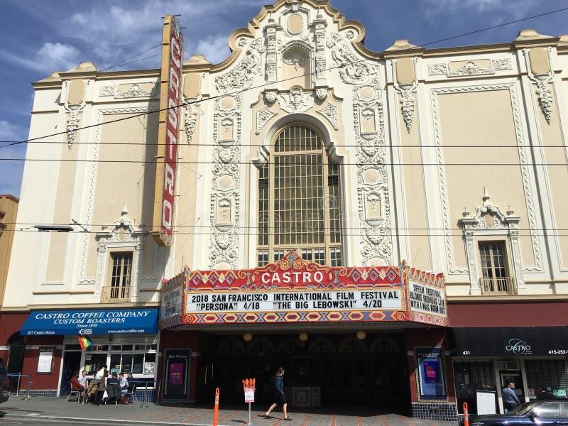 Castro Theater, ` s de San Francisco la mayoría de la casa de película famosa, 3 foto de archivo