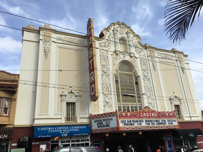 Castro Theater, ` s de San Francisco la mayoría de la casa de película famosa, 4 imagen de archivo libre de regalías