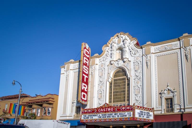 Castro Theater - San Francisco, California, los E.E.U.U. foto de archivo libre de regalías