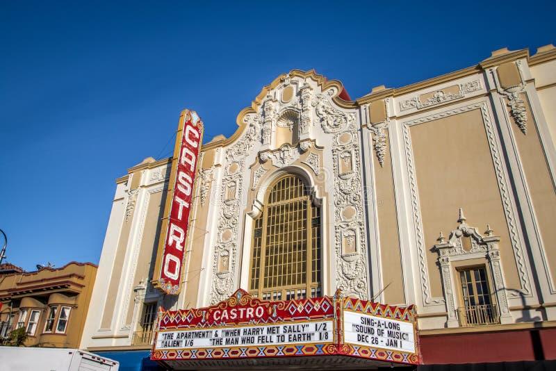 Castro Theater - San Francisco, California, los E.E.U.U. imagenes de archivo