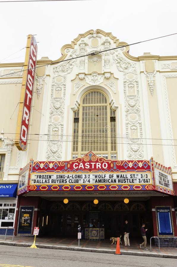 Castro Theater, San Francisco, California. The Castro theater in San Francisco, California, United States of America, a historic landmark and one screen cinema stock image