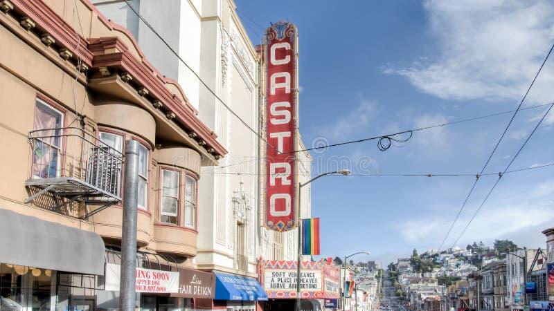 Castro Theatre Sign, Castro District, San Francisco fotografía de archivo libre de regalías