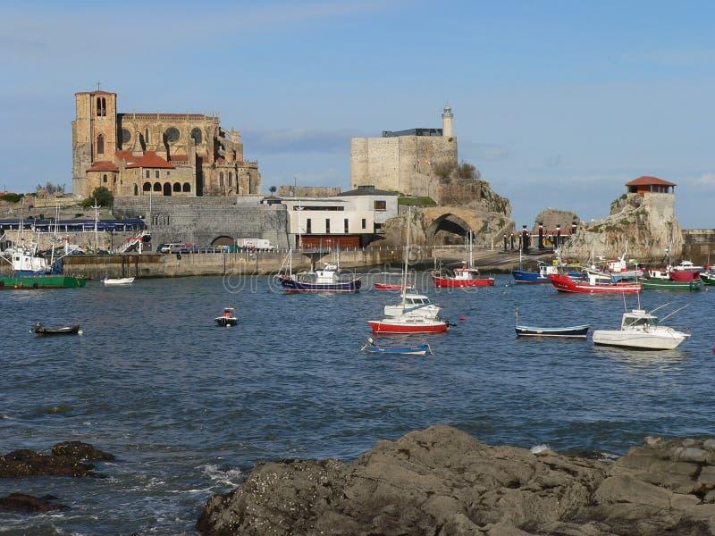 Castro-Urdiales, Cantabria (España) foto de archivo libre de regalías