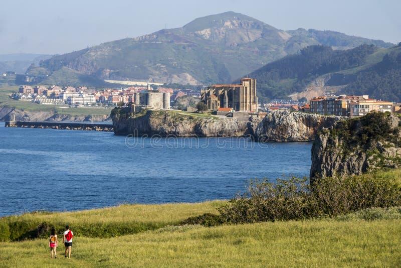 Castro Urdiales, Espanha fotos de stock