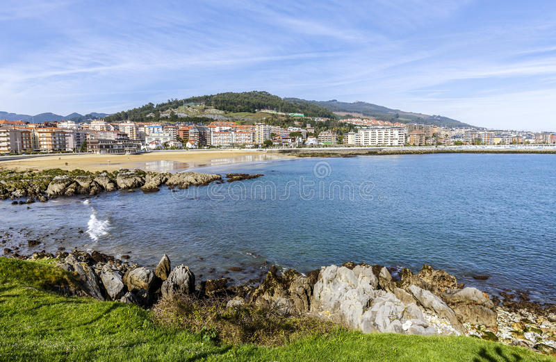 Castro Urdiales Spain. Castro Urdiales is a picturesque small town in the northern coast of Spain stock photos