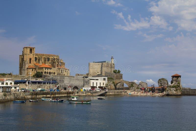 Castro Urdiales-Stadt, Spanien lizenzfreies stockfoto