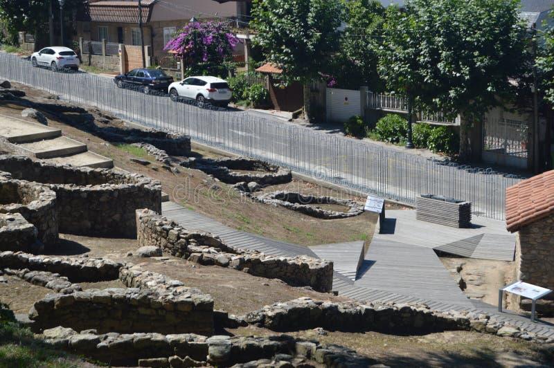 Castro Very Well Preserved In céltico la montaña de Castro In Vigo Naturaleza, arquitectura, historia, viaje 16 de agosto de 2014 fotografía de archivo