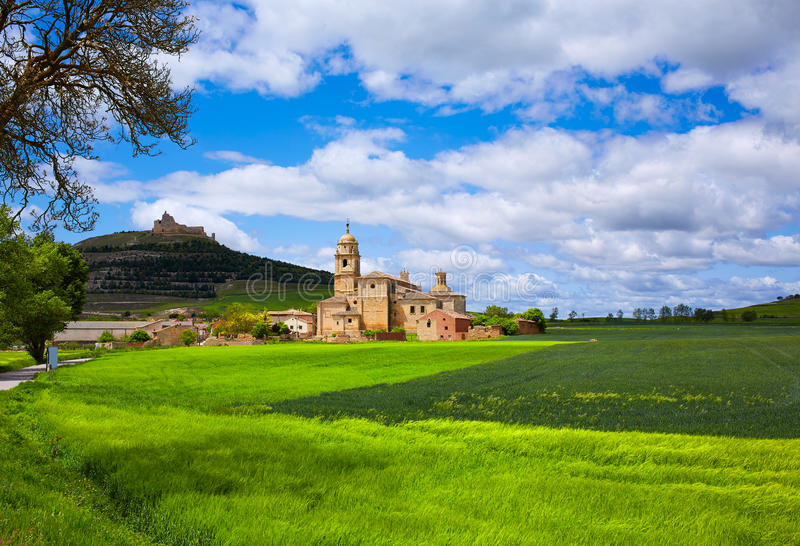 Castrojeriz in the way of Saint James at Castilla stock photo