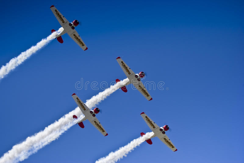 Download Castrol Flying Lions Harvard Aerobatic Team Editorial Stock Image - Image: 14000009