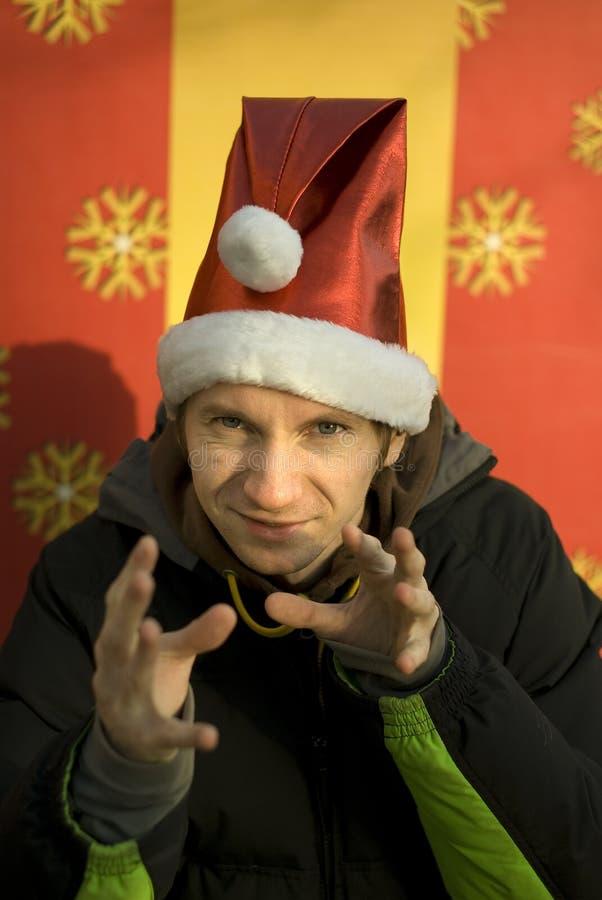 casts lycklig magi för julälva royaltyfri fotografi