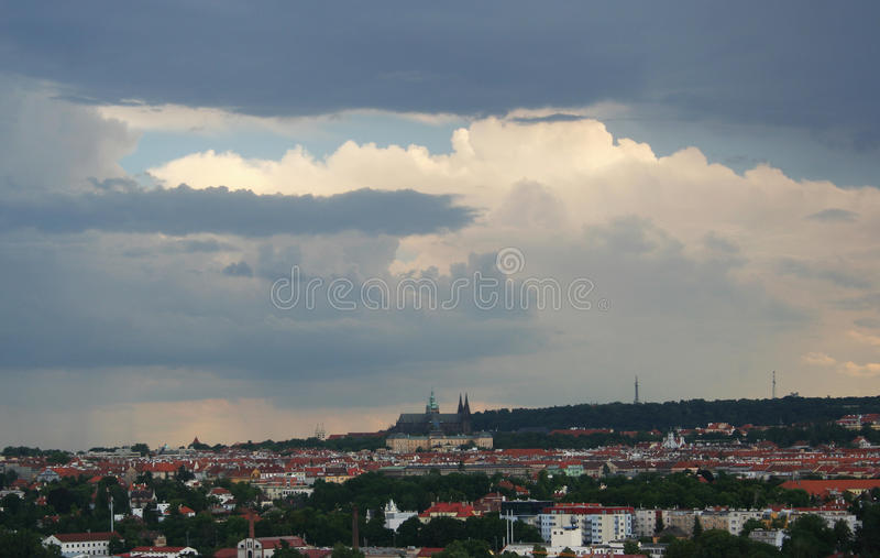 Casttle de Praga en República Checa foto de archivo