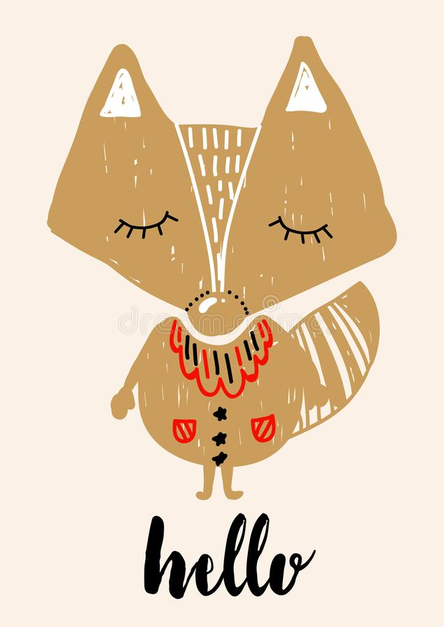 Castylerd del día de fiesta del saludo de la Navidad en escandinavo libre illustration
