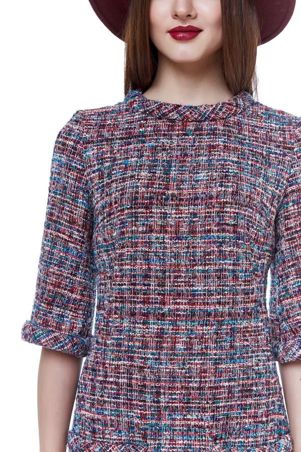 Casu för klänning för kläder för trend för design för kläder för skönhetkvinnamodell stilfull royaltyfri bild