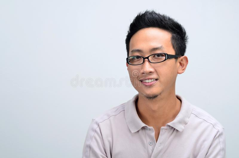 Casual Asian man portrait royalty free stock photos