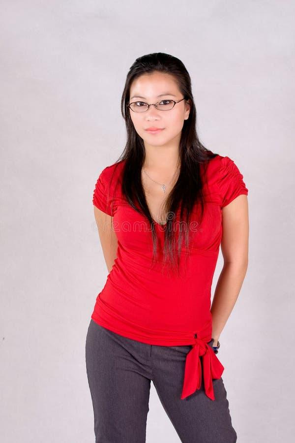 Casual attire. A woman in her casual attire stock image