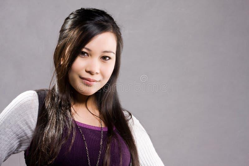 Casual Attire. A model wearing a casual attire stock photo