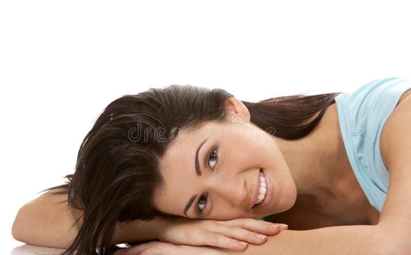 Download Casual brunette stock image. Image of joyful, confident - 28148651