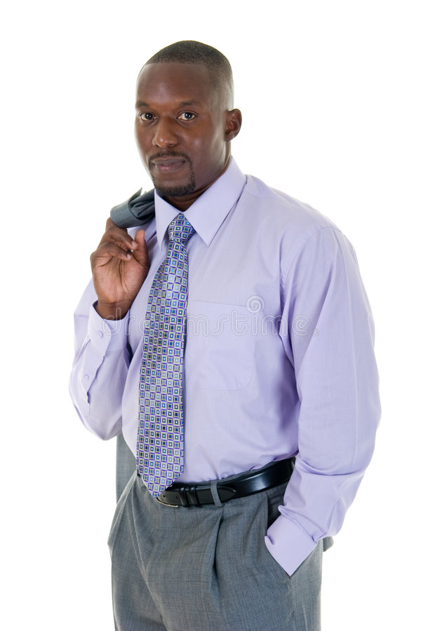 Casual Business Man In Gray Suit Royalty Free Stock Photography
