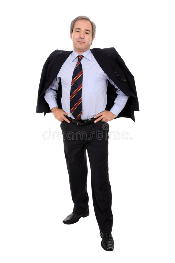 Casual business man standing stock photos