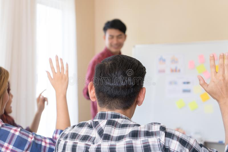 Business people are taking business training conference. Casual business people are taking business training conference royalty free stock photos