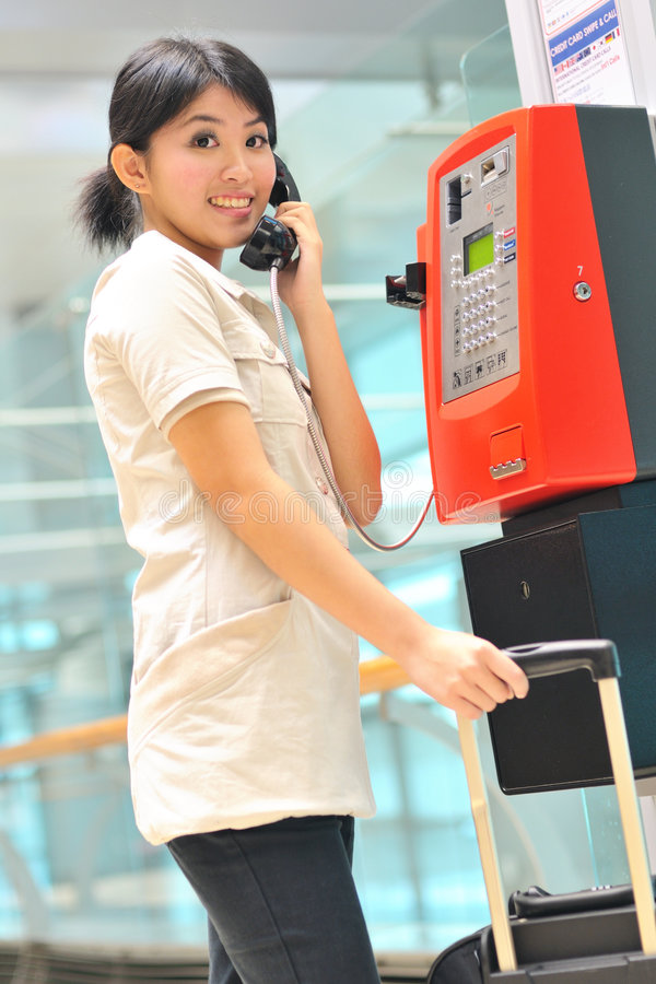 Download Casual Business Woman Making A Call Stock Image - Image of contact, transit: 7323087