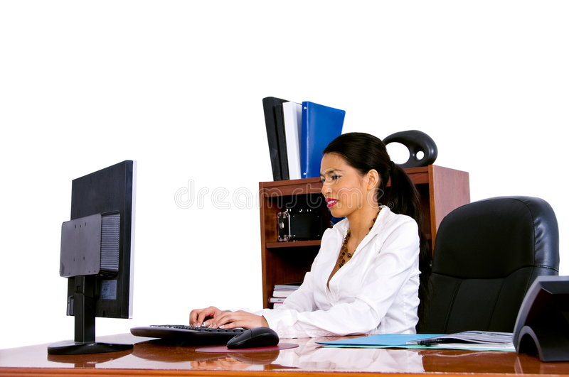 Casual Business Woman In Office stock photos