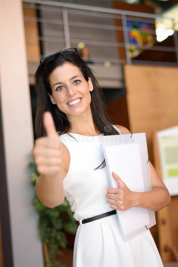 Casual business woman success royalty free stock photo